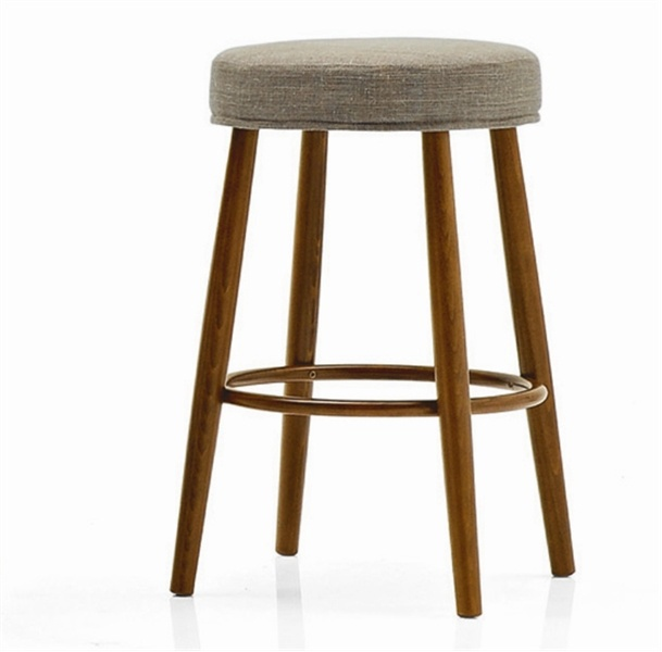 Stool made of solid wood upholstered in fabric Finland, Calligaris