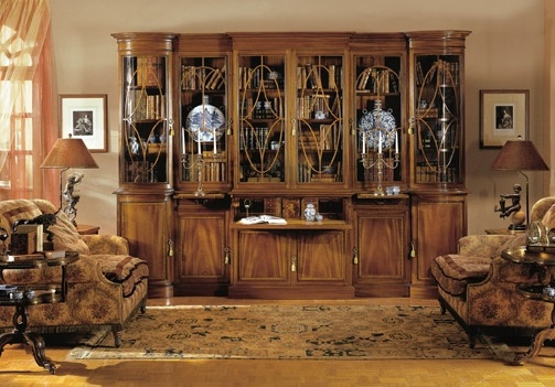 Bookcase, supplemented by section-secretaire - Provasi