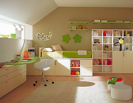 The program for children's room / teen room, Soppalco - Berloni