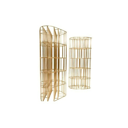 Rack / bookcase made from natural brass rods Ceccotti