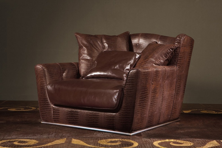 Armchair with leather upholstery Amelia – Rugiano