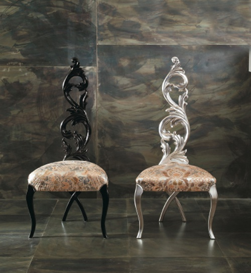 Chair with carved back Barocchina – Rugiano
