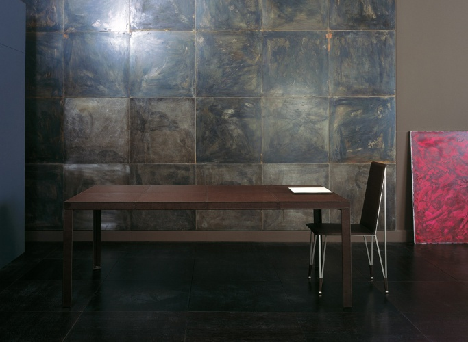 Dining table with leather upholstery Todo – Rugiano