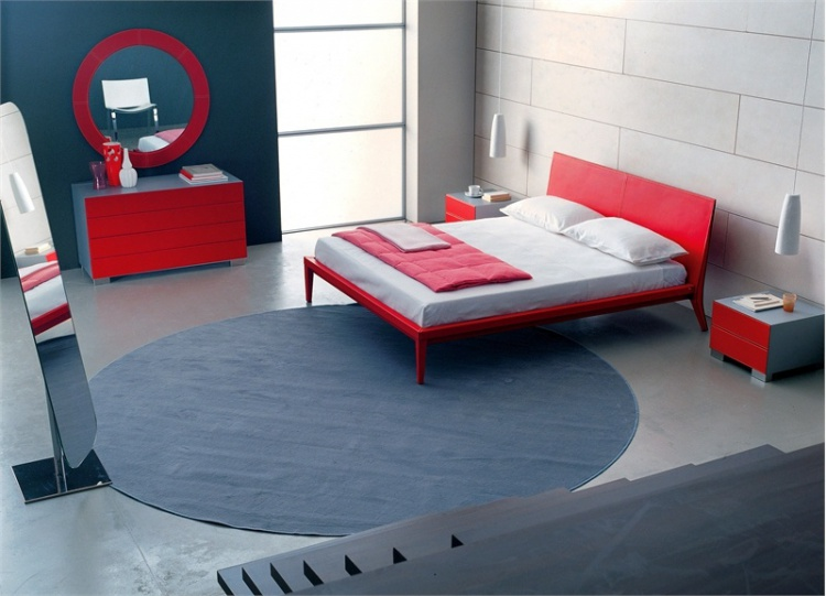 Double bed with a podium Maui, Cattelan Italia