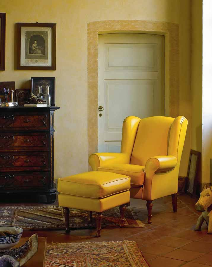 Armchair with pouf, Biba Salotti