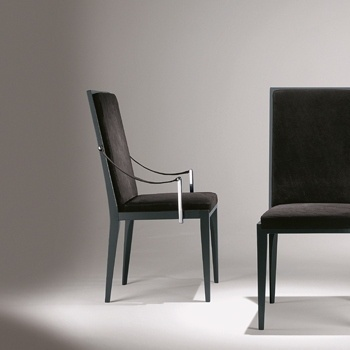 Chair with armrests, Christine Wood - Smania