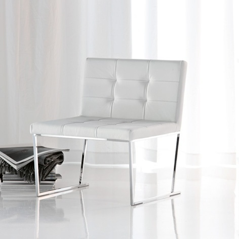 The chair frame made of chromed steel Kate, Cattelan italia
