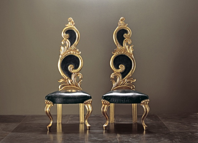 Chair with carved back Barocchina Big – Rugiano