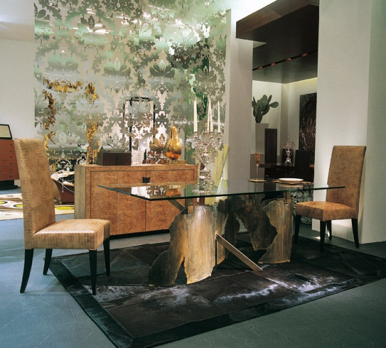 Dining table with glass top Giorgio – Rugiano