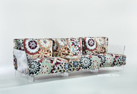 The sofa is modular, Pop - Kartell