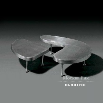 Set of two coffee tables made from aluminium, Art, Alivar