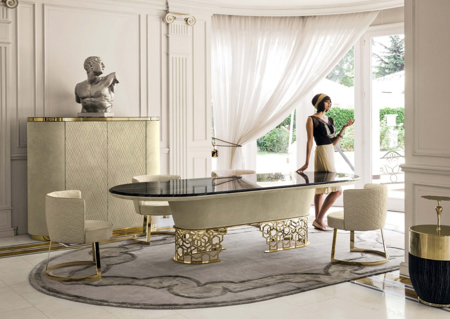Prime Dining Table With Metal Frame Clairmont Longhi Luxury Ocoug Best Dining Table And Chair Ideas Images Ocougorg
