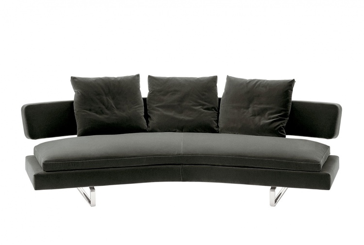 The sofa on the frame of steel tubes covered with leather or cloth Arne, B&B Italia