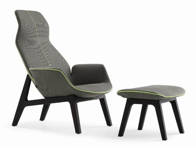 The high-backed chair, Lounge Ventura - Poliform
