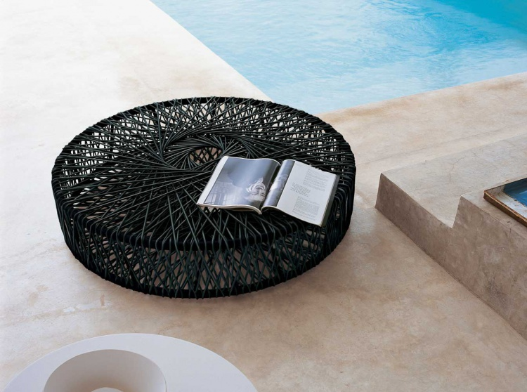 Coffee table in metal wire Reel, B&B Italia
